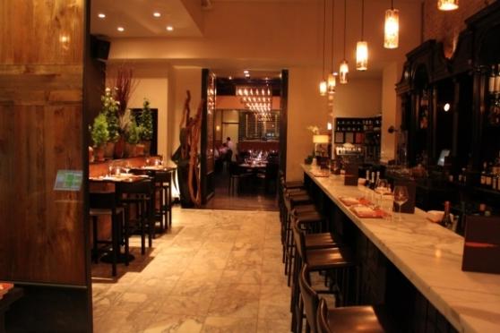 Scarpetta bar and dining room