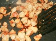 Cooking chicken for James' Junk Salad