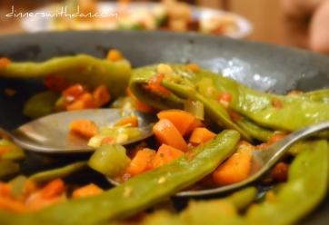 Kristen's Braised Romano Beans