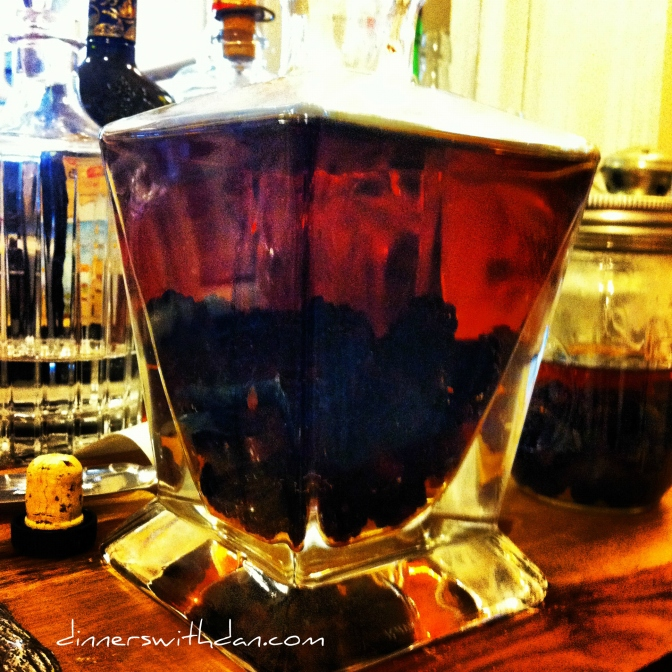 Blackberries and Bourbon