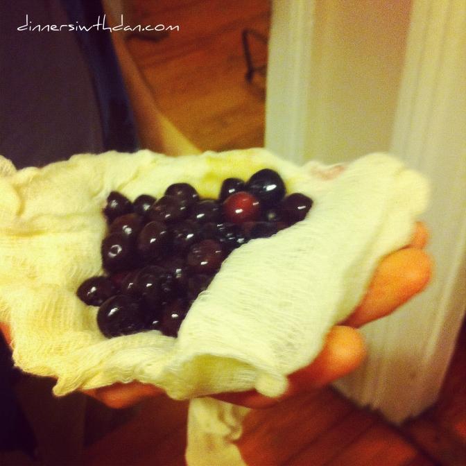Straining Blackberries